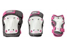 JR VENTILATED 3-PACK white/pink