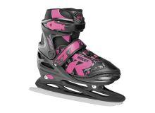 Adjustable Ice Skate for Kids-mod. JOKEY ICE 2.0 GIRL Black-Fuchsia